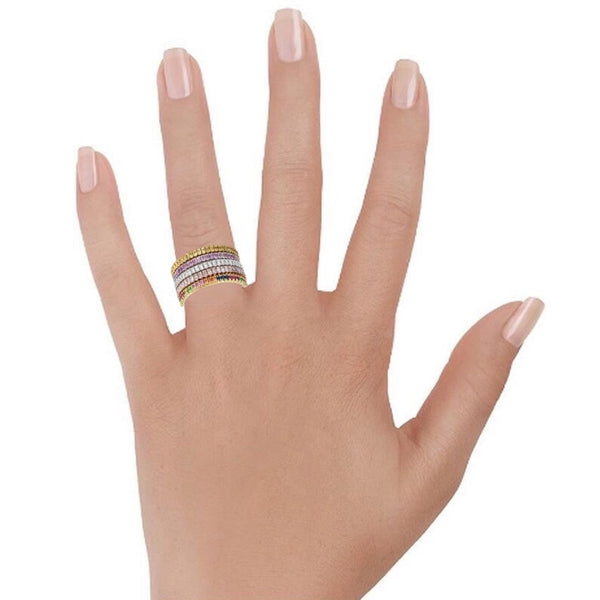 Stackable rings, eternity bands on hand