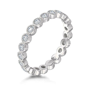 Eternity Ring Milgrain - Large - Mizrahi Diamonds