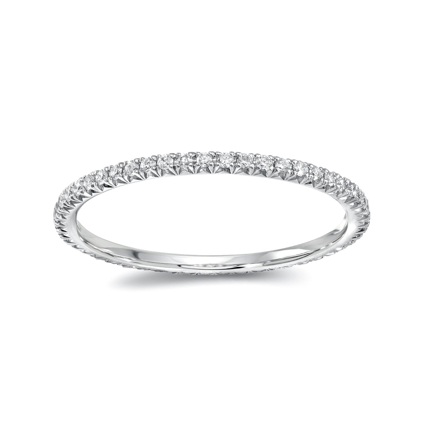 Round diamond Eternity Band - White Gold