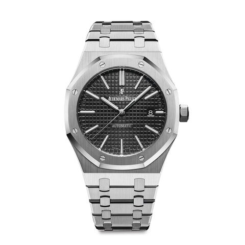 Audemars Piguet Royal Oak Stainless Steel Black - Mizrahi Diamonds