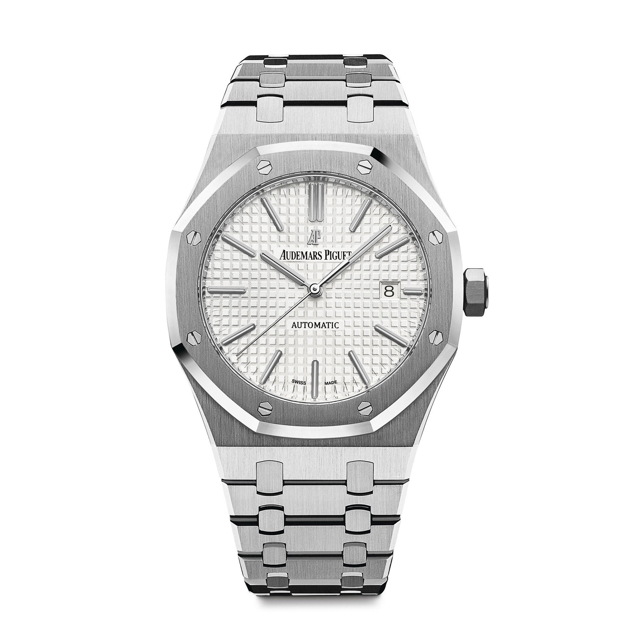 Audemars Piguet Royal Oak Stainless Steel White - Mizrahi Diamonds