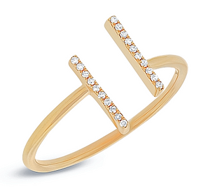 Diamond Double Band Ring - Mizrahi Diamonds