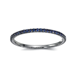 Blue Sapphires Eternity  Band