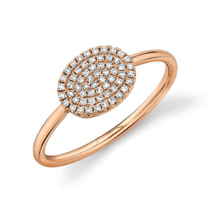 NEW! Pave Oval Pinky Ring