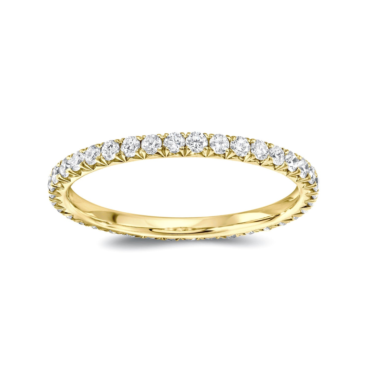 Eternity band Yellow gold