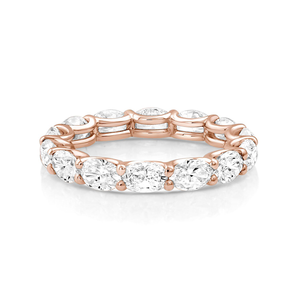 Oval Diamonds Eternity Band - Mizrahi Diamonds