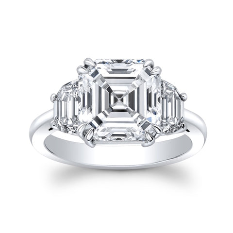 5.34 ct. Royal Assher cut Diamond Ring