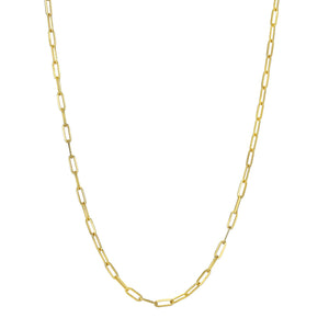 14k Mini Paper Clip Chain Necklace