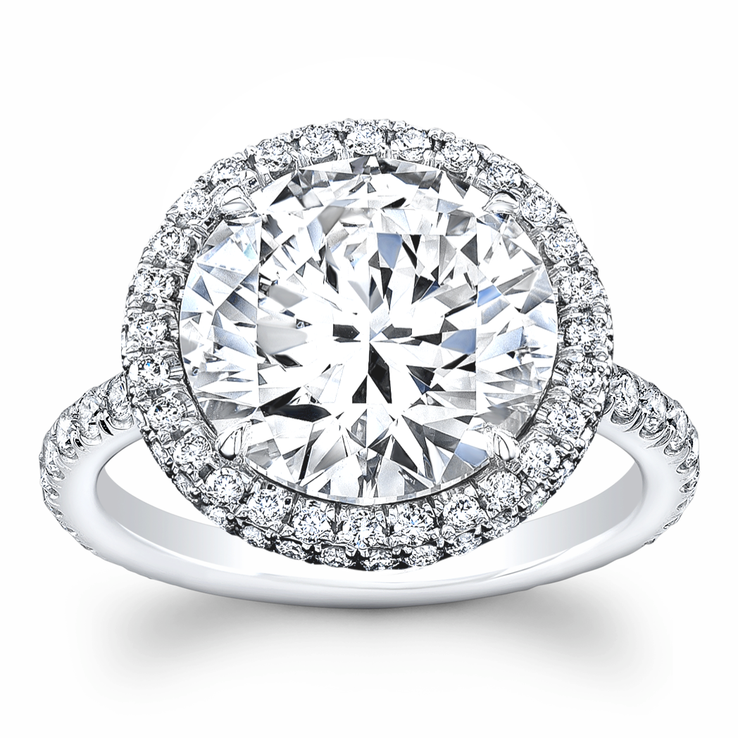 3.85 ct Round Cut Diamond Ring