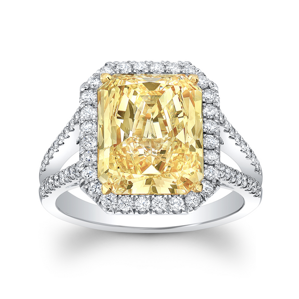 2.50 Carat Radiant Cut Diamond Ring GIA