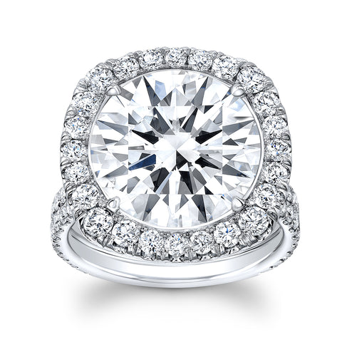9.42 ct. Round Diamond with Halo