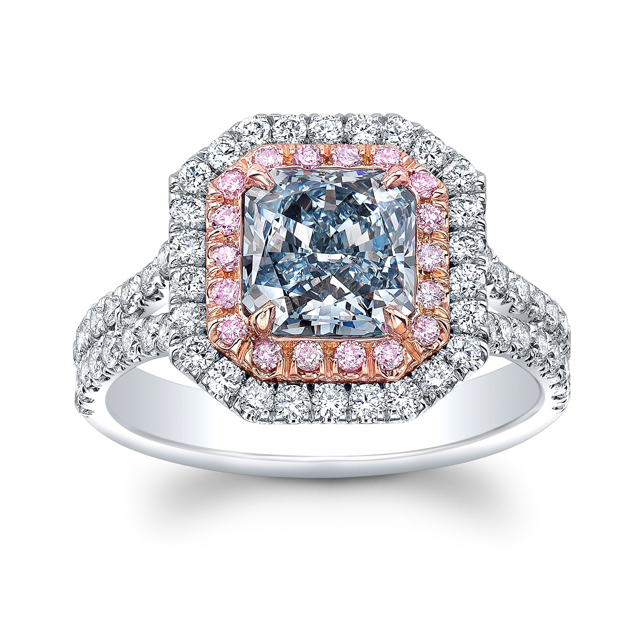 Blue & Pink Diamond Ring - Mizrahi Diamonds
