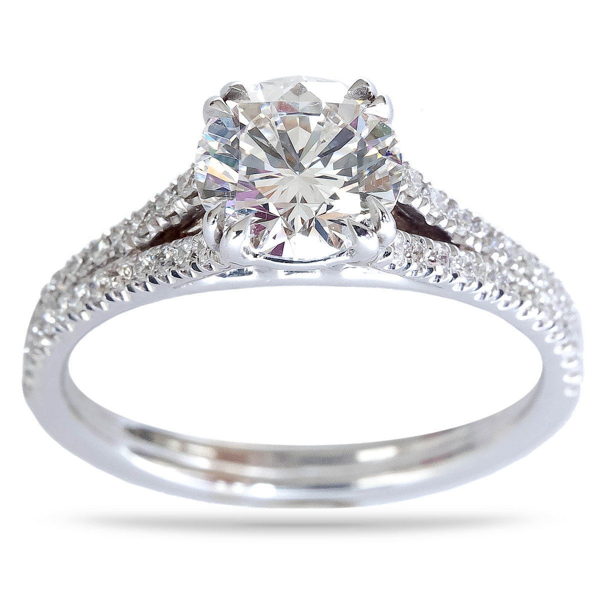 GIA E Color Diamond Engagement Ring