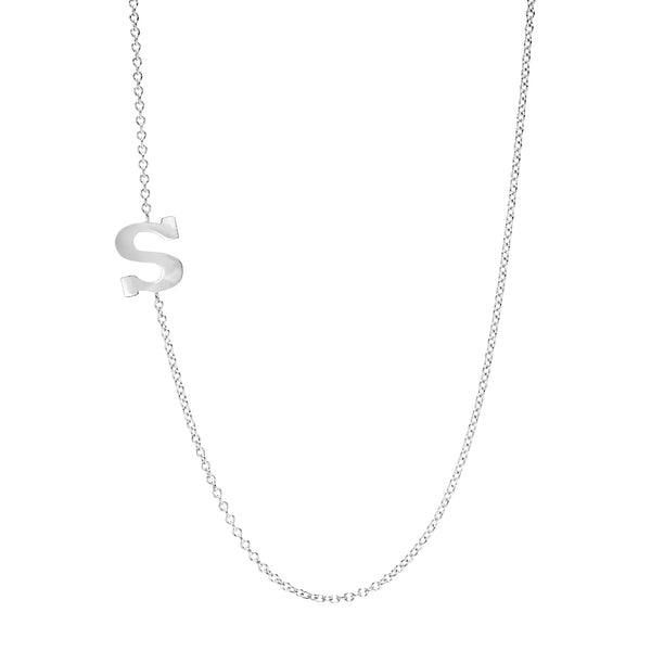 White Gold Initial Pendant necklace