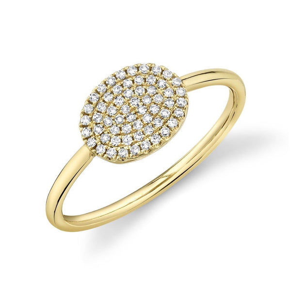 14k Pinky diamond ring