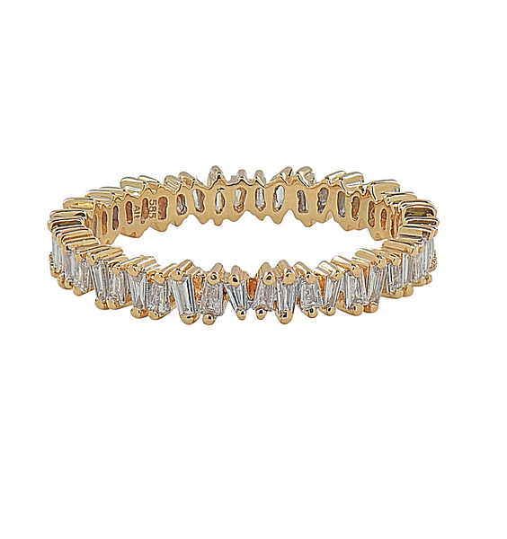 North-South Baguette Diamond Band - Mizrahi Diamonds
