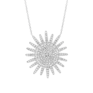 White Diamond Sunshine Collier - Mizrahi Diamonds
