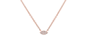 Lucky Eye Gold Necklace - Mizrahi Diamonds