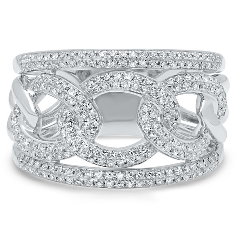 Link Diamond Ring - Mizrahi Diamonds