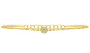 Pave Diamond Circle Bracelet - Mizrahi Diamonds