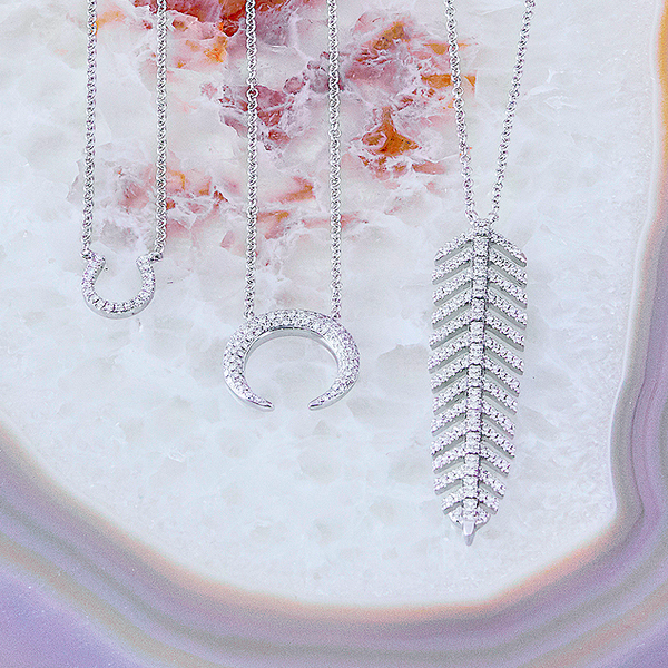 Feather Diamond Necklace