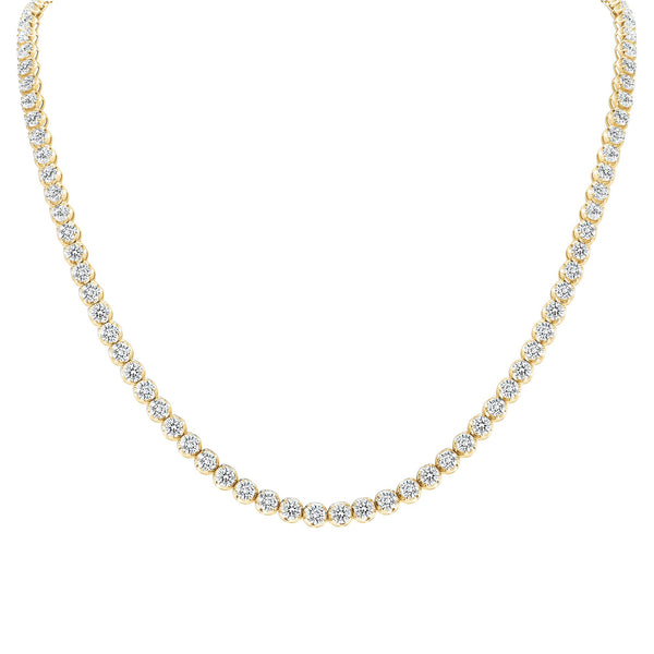 Gold Tennis Necklace 5.50 cts