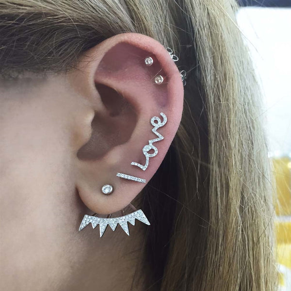 Love Ear Crawler Earrings