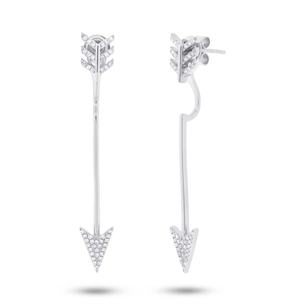 Arrow Earrings Jacket with Stud