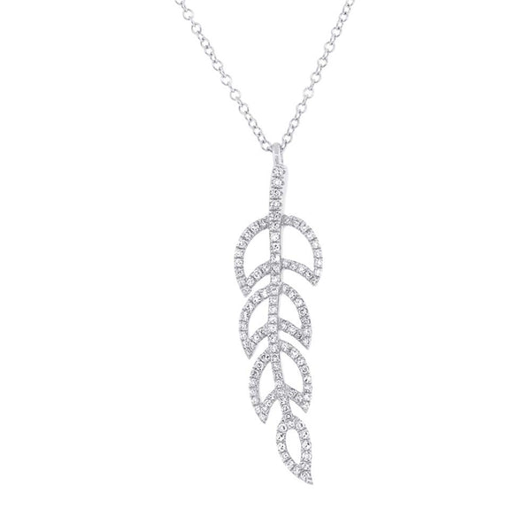 Leaf Diamond Necklace