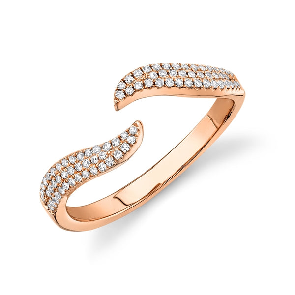 Stackable Wave Diamond Ring