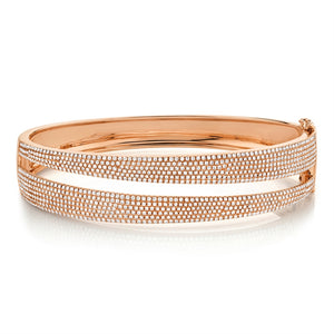 Double Band Diamond Bracelet
