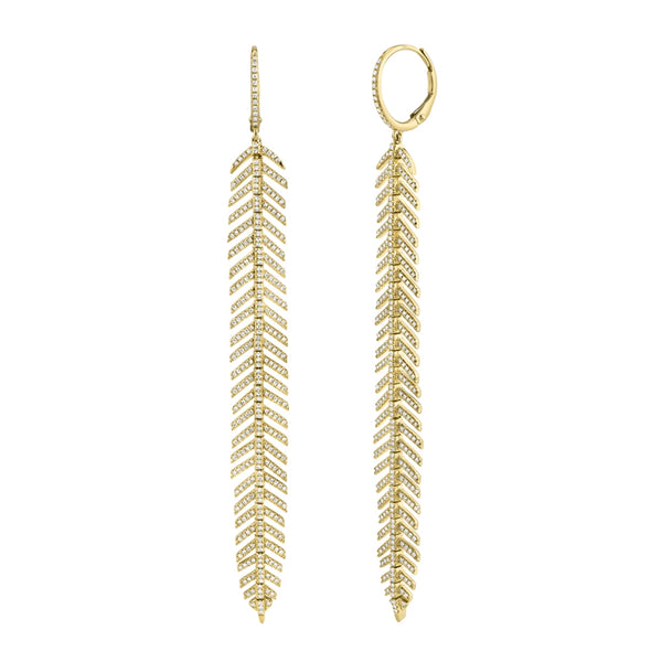 FEATHER Earrings - Long