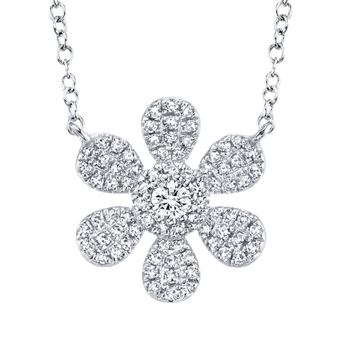 Diamond Flower Necklace