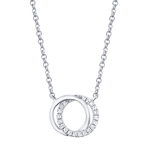 Love Knot Circle Necklace