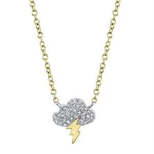 Storm Cloud Diamond Necklace