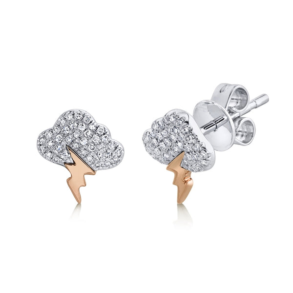 Storm Cloud Diamond Earrings