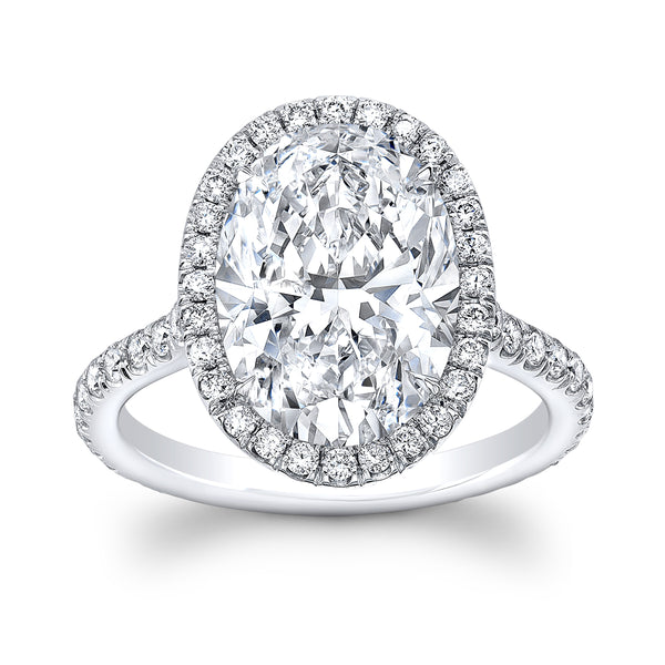 5 ct. Oval Diamond Ring - Mizrahi Diamonds