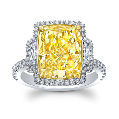 6 Ct. Natural Fancy Yellow Diamond Ring - Mizrahi Diamonds