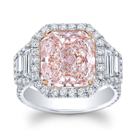 7.60 Carat Flawless Pink Diamond Ring - Mizrahi Diamonds