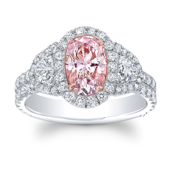 1.20 Fancy Brown Pink Diamond Ring
