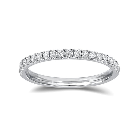 Diamond Wedding Band White Gold