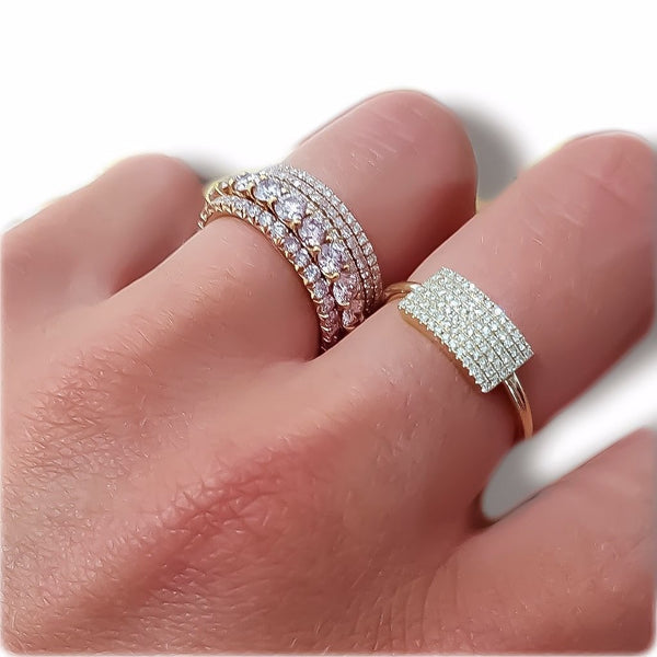 "Pave Diamond Plate Ring - ""Best Seller"""