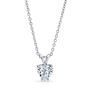 2 ct. Heart Solitaire Diamond Pendant GIA - Mizrahi Diamonds