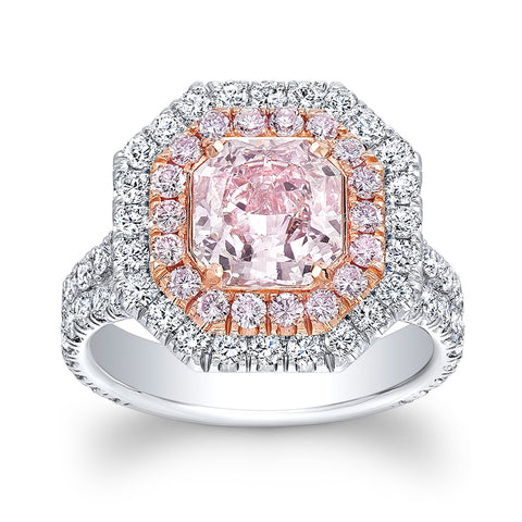 3.69 Carat Rare Pink Diamond Ring - Mizrahi Diamonds