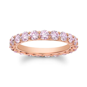 Argyle Pink Diamond Eternity Band - Mizrahi Diamonds