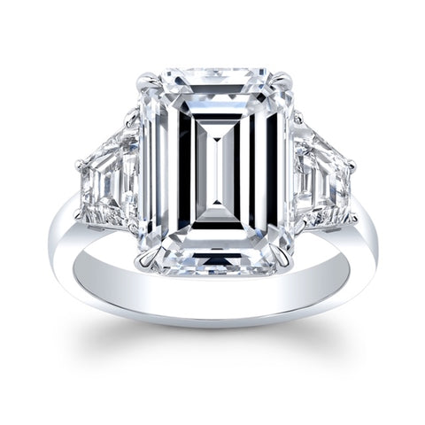 6.03 ct. Emerald cut Diamond Ring - Mizrahi Diamonds