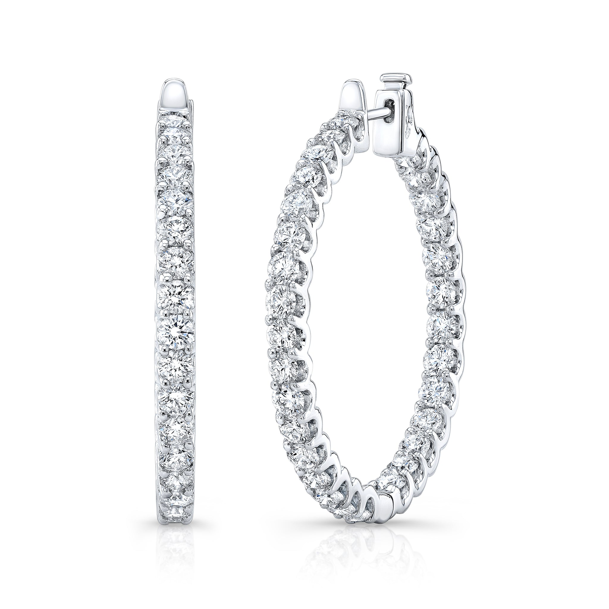 Eternity Diamond Hoops - Mizrahi Diamonds
