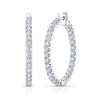 Eternity Diamond Hoops in White Gold - Mizrahi Diamonds