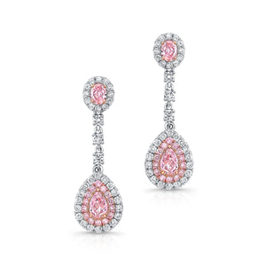 Natural Fancy Pink Diamond Earrings - Mizrahi Diamonds