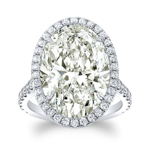 10 ct. Oval Diamond Ring - Mizrahi Diamonds